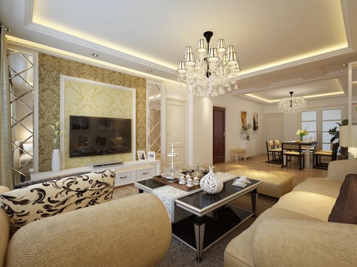 蓝山湾128平三室两厅现代风格