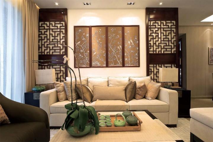 银海社区165平米套三中式风格