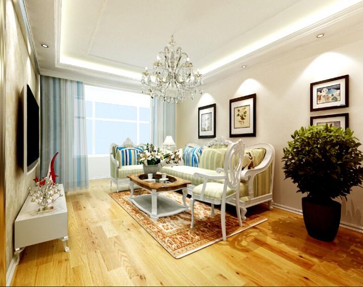 德馨筑家91平米两室两厅欧式风格