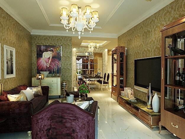 枕海山庄97平米两室一厅欧式风格