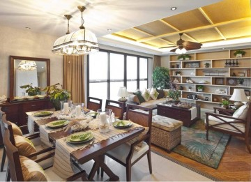 三居室东南亚风格效 ...