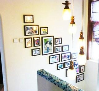 创意室内楼梯照片背 ...