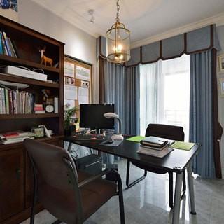 舒适自由80平米二居室美式风格效果图