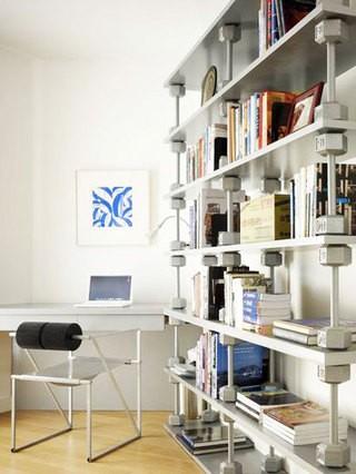 開放式書房裝修設計案例實景圖