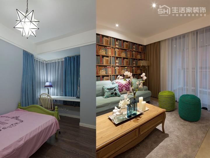 熊猫汇智家园121平现代混搭风格实景图