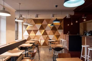 红酒咖啡厅42平米混搭风格装修图片