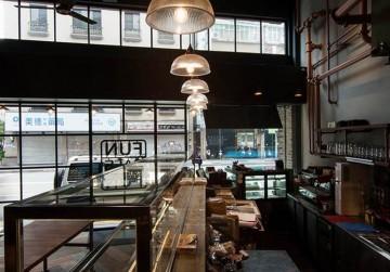 工业风咖啡厅180平米混搭风格效果图