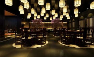 黑耀空间日式料理781平米混搭风格工装效果图