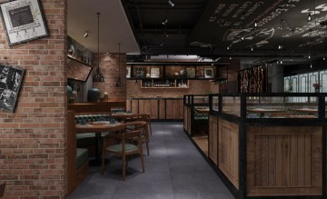 凯阅蔺西餐厅900平米混搭风格工装