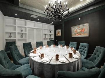 竹溪餐厅320平米混搭风格工装设计效果图