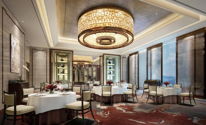 景泊尔漫酒店4200平米简欧风格工装效果图
