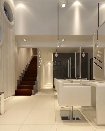 AE理发店300平米现代风格工装设计