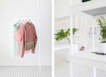 女装精品店45平米简约风格装修设计