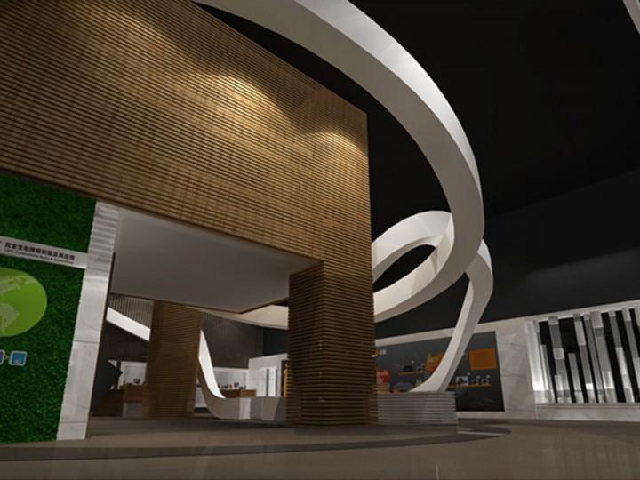 kingfa金发科技企业展厅装修设计图