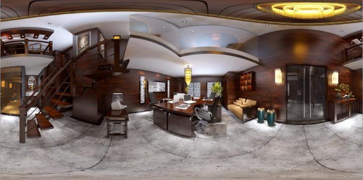 紫御龙湾新中式风格办公场所设计