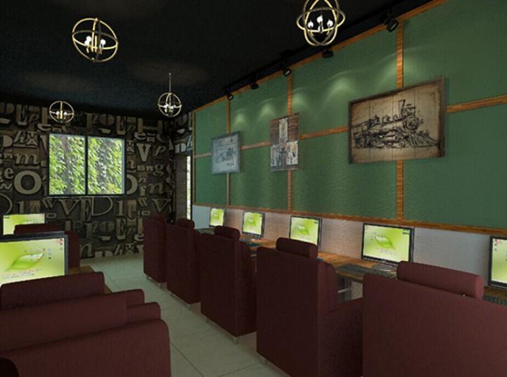 现代风格500平米网吧装修效果图