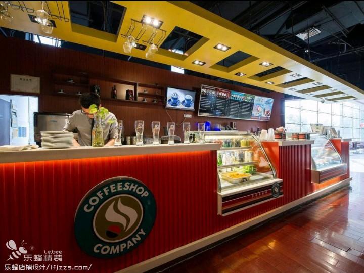 龙华咖啡厅装修现场图片