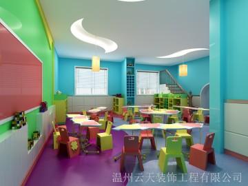 色彩艳丽幼儿园装修图片欣赏