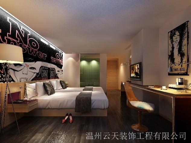 酒店标准房装修效果图方案