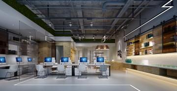 办公室公共办公装修效果图