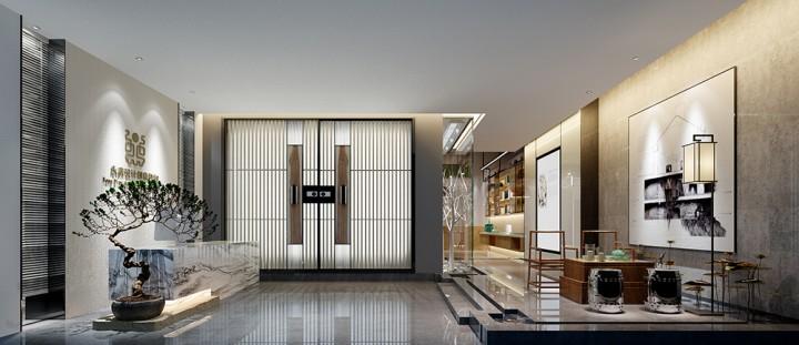 儒雅利落新中式风格办公室装修效果图