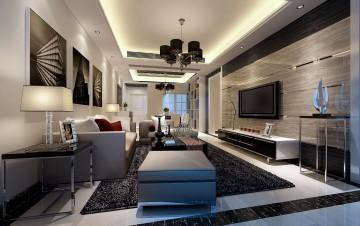 虎园路四居室后现代风格室内装修