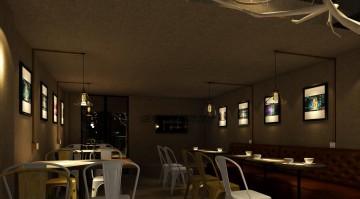蒸汽公寓餐饮店装修效果图2