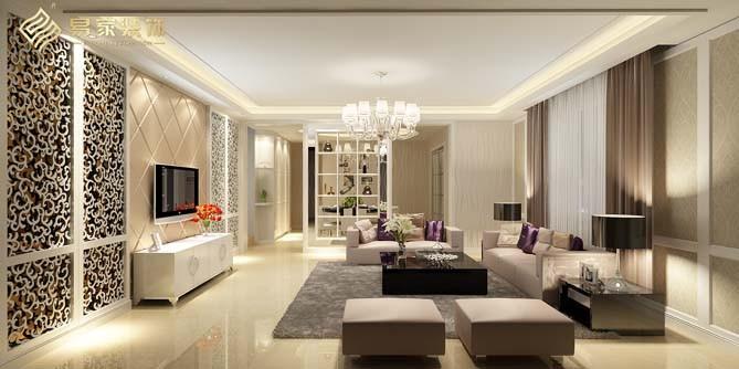 简欧现代风三室两厅室内装修效果图