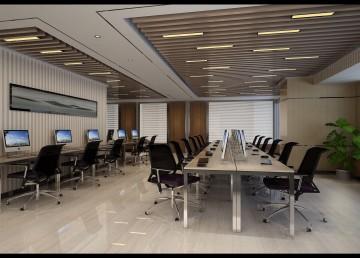 电力公司办公楼设计开放办公室设计图