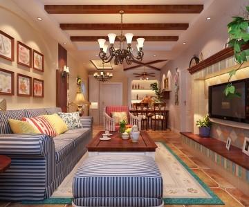 85平米田园风格室内装修白祈少狂分享
