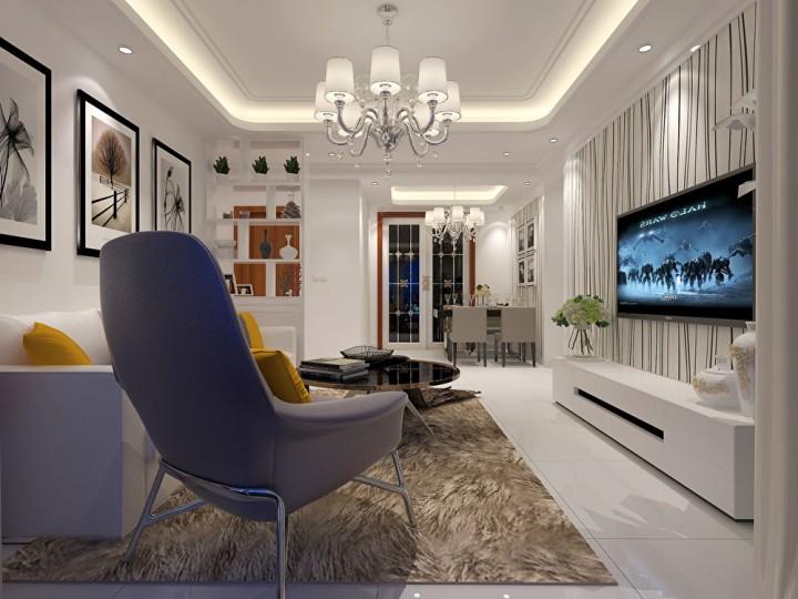 138平米现代风格装修设计案例
