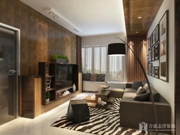 后现代风格二居室装 ...