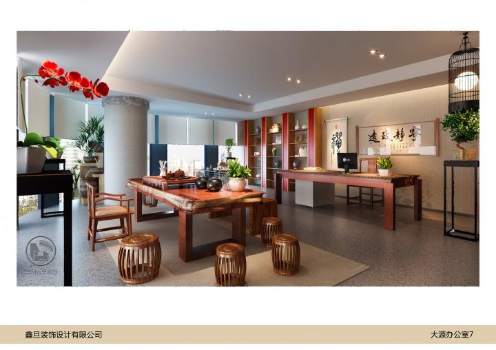 大源中国风办公室装修效果图