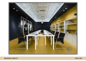 大源中国风办公室装修会议室
