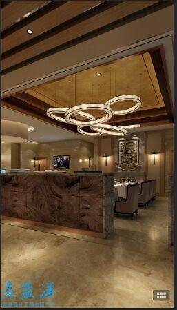 精致品味奢华欧式咖啡店装修吊顶