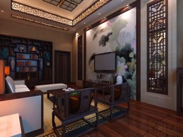 贵州水产研究所中式风格接待室效果图