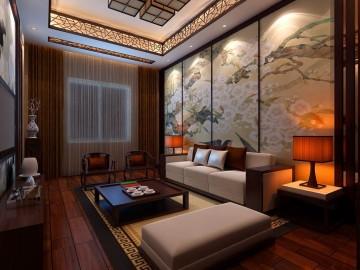 贵州水产研究所中式风格接待室设计图