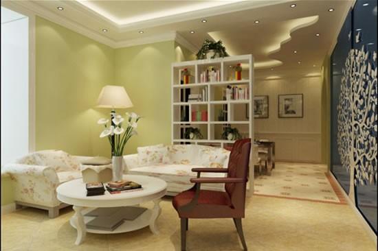 田园乡村风格两室一厅装修设计效果图