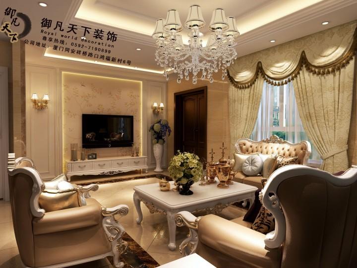 欧式风格豪华别墅装修设计效果图