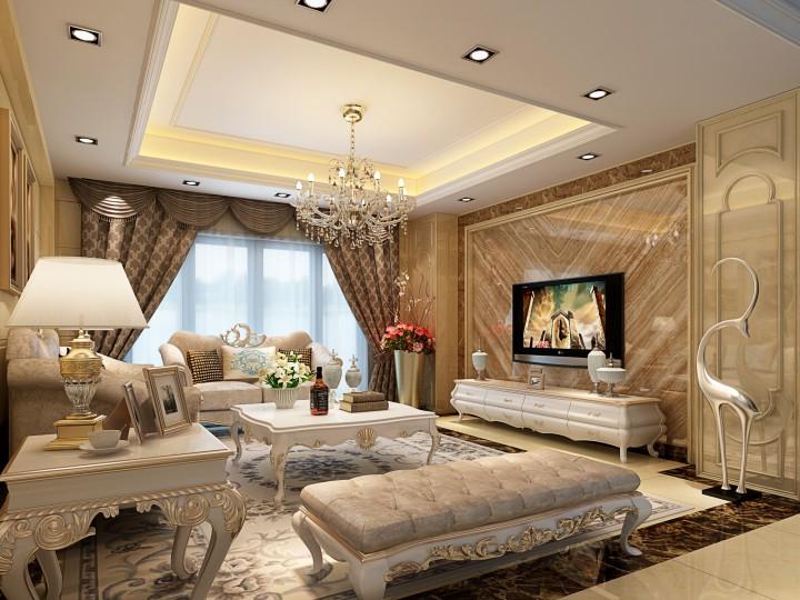 简欧三居室装修设计效果图欣赏