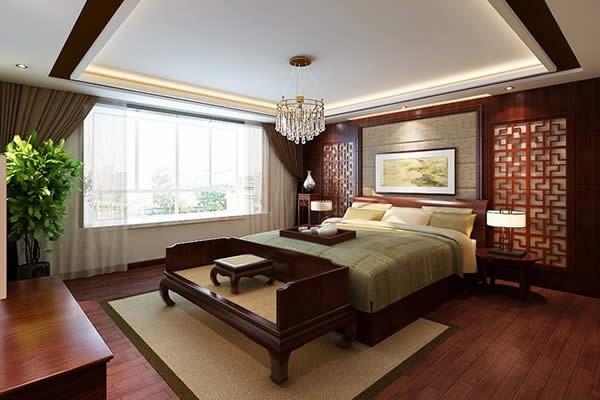 新中式四室两厅样板间装修效果图