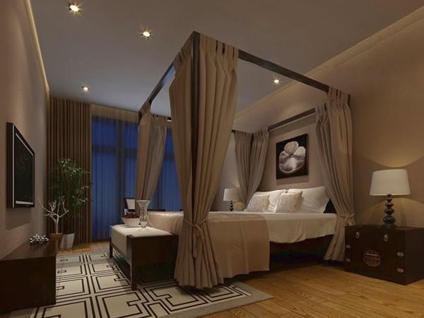 中式简约风格两室一厅装修设计案例