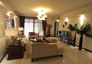 东南亚风四居室装修客厅设计图