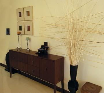 东南亚风四居室装修背景墙设计图分享