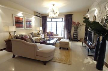 东南亚风四居室装修客厅设计图分享