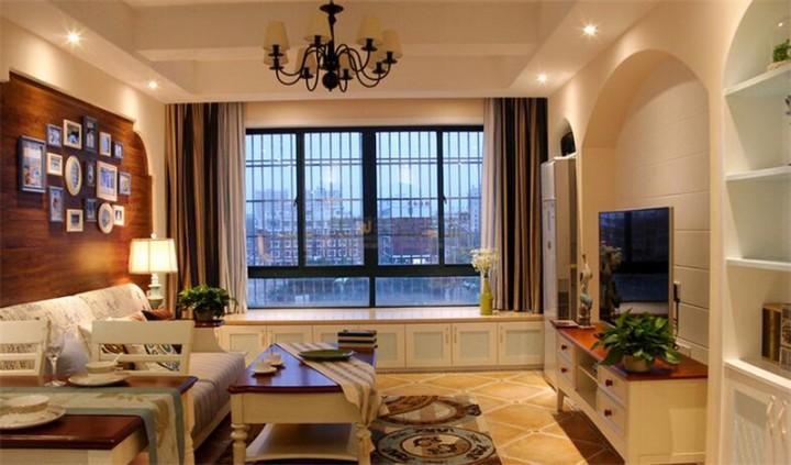 地中海风格两室两厅设计效果图