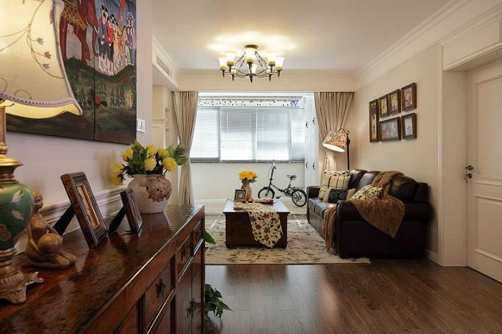 美式风格三居室装修效果图欣赏