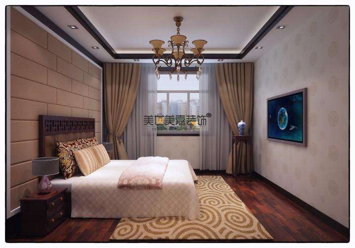 中式典雅风格三居室装修效果图大全