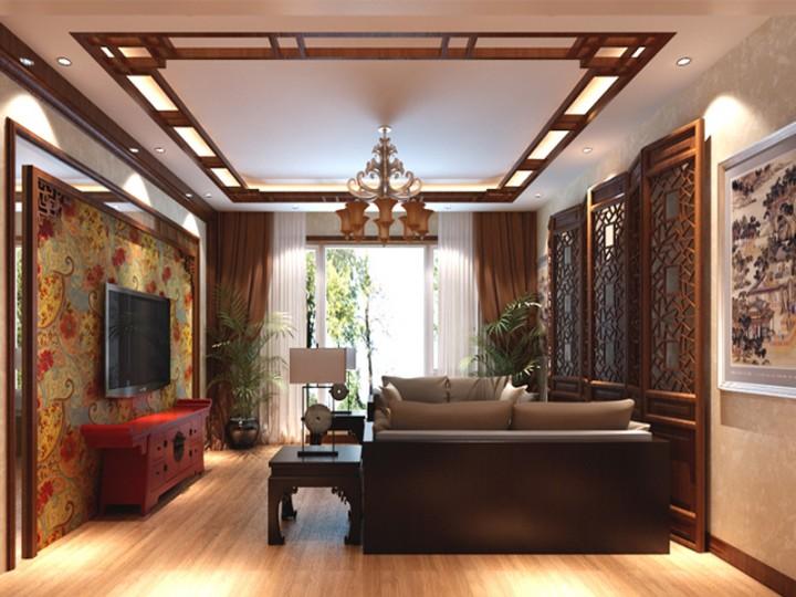 中式风格典雅装修设计效果图