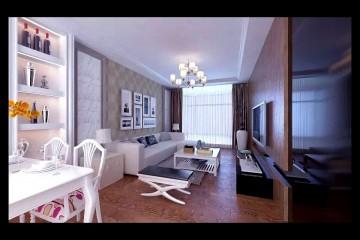 60平米现代风格一室一厅装修效果图
